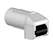 Kunststof bandgeleider 14 mm kunststof wiel