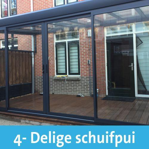 Schuifpui  overkapping 4 Delig