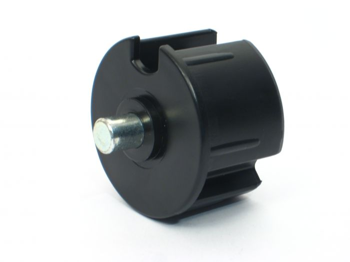 Kunststof lagerprop 63 met as 12 mm